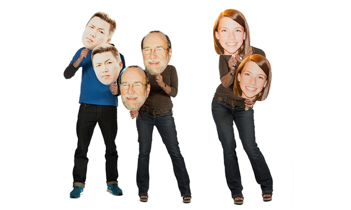 "Build-A-Head: 3, 5, or 10 Custom 12""x18"" Head Cutouts on a Stick from Build-A-Head (Up to 65% Off)"
