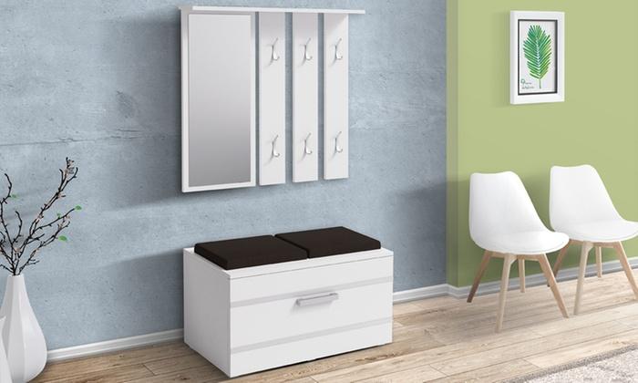 Mueble de entrada con banco | Groupon Goods