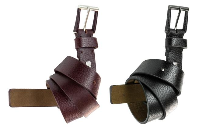 Steve Madden Men's Genuine Leather Belts