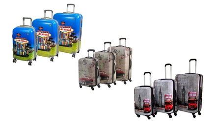 fb011343e560f ThreePiece Pacific Link Trolley Luggage Set in Choice of Colour for ...
