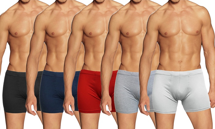 f97ef11a395b18 Men's Egyptian Cotton Seamless Stretch Boxer Briefs (9-Pack)