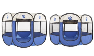 Pop-Up Pet Playpen with Carrying Case for Indoor and Outdoor Use