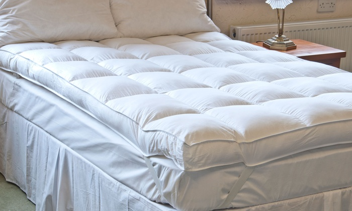 groupon goods global gmbh extrathick duck feather mattress topper with free delivery