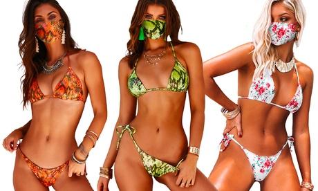 Bikini Sully con mascarilla a juego, disponible en varios colores y tallas