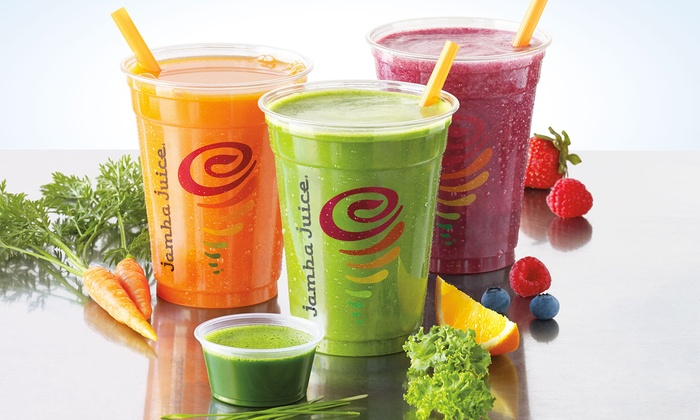 Jamba Juice - Multiple Locations: Three or Five Groupons, Each Good for One 12 Oz. Freshly Squeezed Juice at Jamba Juice (44% Off)