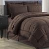 Luxury Home Vine-Embossed Bed-in-a-Bag Comforter Set (8-Piece)