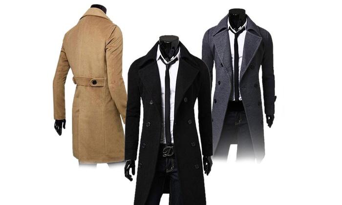 bis zu 69 rabatt herren mantel mit reverskragen groupon. Black Bedroom Furniture Sets. Home Design Ideas