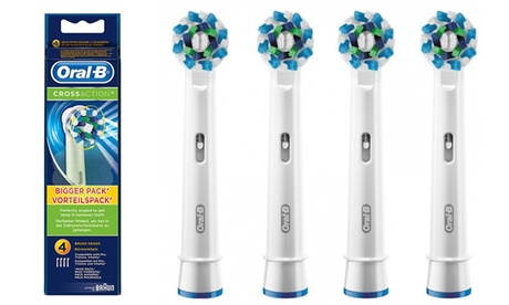 4 testine di ricambio Oral-B CrossAction