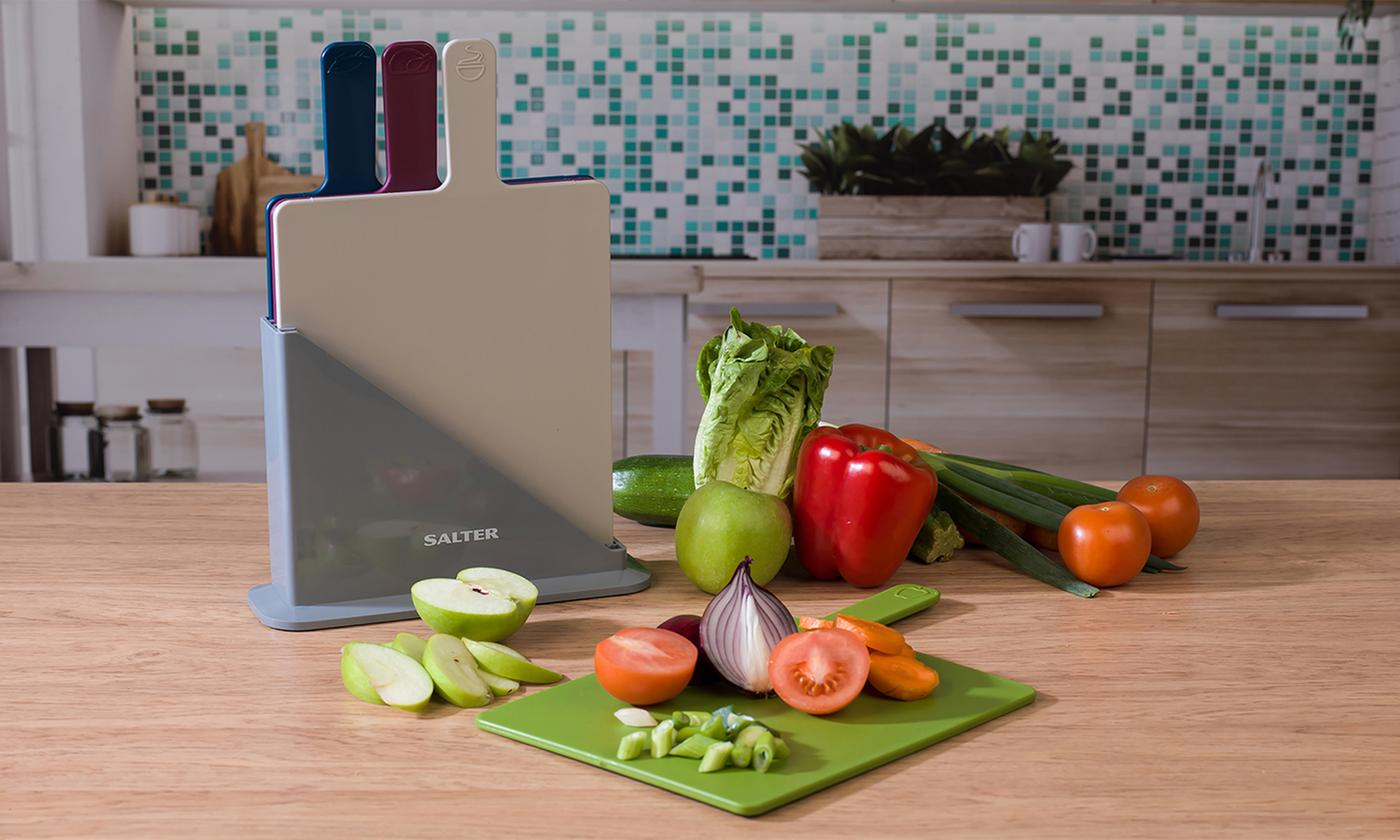 Four Piece Salter Chopping Board Set