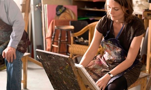MAB Art Studio & Boutique Gallery: Introduction to Painting Class or Learn-to-Paint Course with Optional Materials (Up to 78% Off)