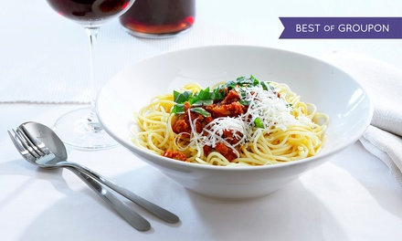 Italian Cuisine and Drinks at The Pasta Tree Restaurant & Wine Bar (Up to 48% Off)