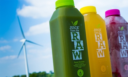 Three-Day Cold-Pressed Juice Cleanse from Juice from the Raw With Free Delivery