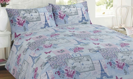 Parisienne Patchwork Duvet Set in Choice of Colour and Size from £9.98