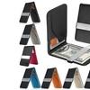 Zodaca Men's Genuine Leather Slim Wallet with Money Clip