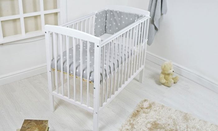 Groupon Goods Global GmbH: Precious Little One Compact Cot with Optional Bedding With Free Delivery