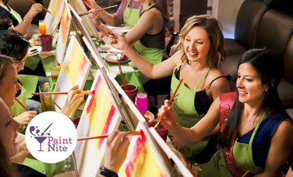$29 for One Admission to a Painting Party in a Bar in Montreal Greater Area with Paint Nite® ($45 Value)