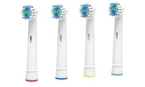 4 à 80 têtes brosse à dents