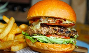 The Rusty Rabbit - Burwood: Burger and Drink for One ($14) or Two People ($27) at The Rusty Rabbit Burwood (Up to $47 Value)