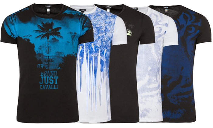 buy online 5584b e3e76 T-shirt uomo Just Cavalli | Groupon Goods