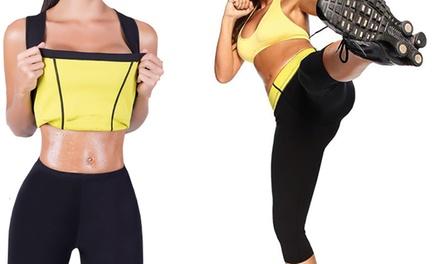 Top y/o leggins cortos con efecto sauna adelgazante