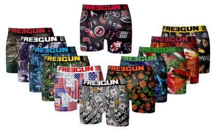 BLACK FRIDAY Pack surprise de 6 boxers Freegun en microfible