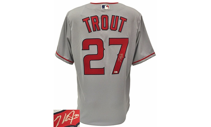 size 40 530a1 094b5 Los Angeles Angels Superstar Mike Trout Autographed ...