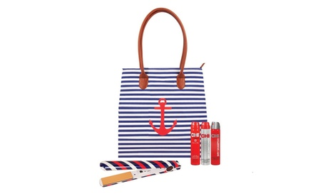 Chi Limited Edition Nautical Twist Flat Iron, Hair Products, and Tote Kit (5-Piece) 4219c9f0-1e37-11e8-8a68-5254801ee647