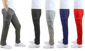 Men's Fleece-Lined Cargo Sweatpants