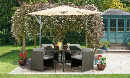 Siena Five Piece Cubic Rattan Effect Furniture Set with Optional Furniture and Cushion Covers With Free Delivery