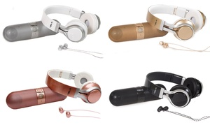 GabbaGoods Metallix Speaker, Headphones, and Earbuds Gift Set