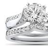 3/4 CTTW Pavé Diamond Twist Engagement Ring by Bliss Diamond