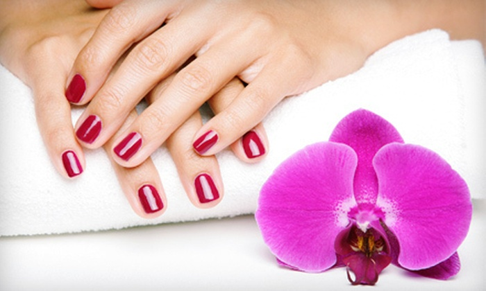 Wild Strandz Hair Salon - Sweetser Ormond: Express Mani-Pedi, Acrylic Nails, or Luxury Spa Mani-Pedi at Wild Strandz Hair Salon (Half Off)