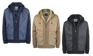 Men's Fleece-Lined Knitted Heavyweight Zip-Up Hooded Jacket