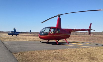 30-Minute <strong>Helicopter</strong> Tour for Up to Three at Blue Hill <strong>Helicopters</strong> (40% Off)