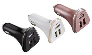 LAX Gadgets 3-Port USB Car Charger (1-, 2-, or 3-Pack)