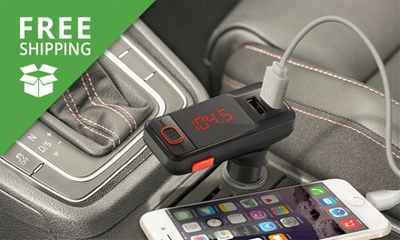 Free Shipping: Bluetooth FM Transmitter and Dual USB Car Charger: One ($16.95) or Two ($29.95)