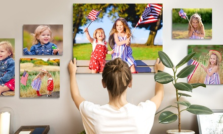Custom Premium Thick Canvas Prints 12x10, 20x16, 36x24 or 40x30 from Printerpix (Up to 93% Off)