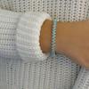 11.00 CTTW Aquamarine Cubic Zirconia Tennis Bracelet by Mina Bloom