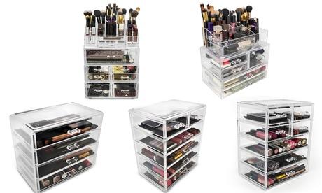 Sorbus Makeup-Storage Organizer Display-Case Set