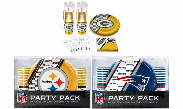NFL Party Pack 20-Person Place Setting Set: NFL Party Pack 20-Person Place Setting Set