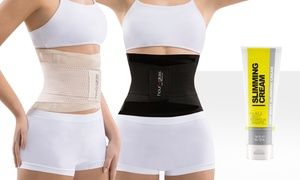Women's Waist Belt and Slimming Gel (4 Fl.Oz.). Plus Sizes Available.