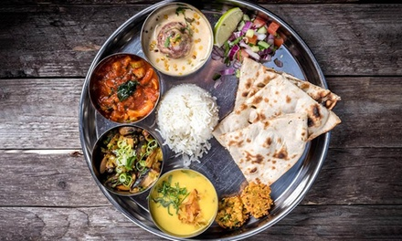 Large Vegetarian Thali for Up to Four at Govinda's Vegetarian Restaurant