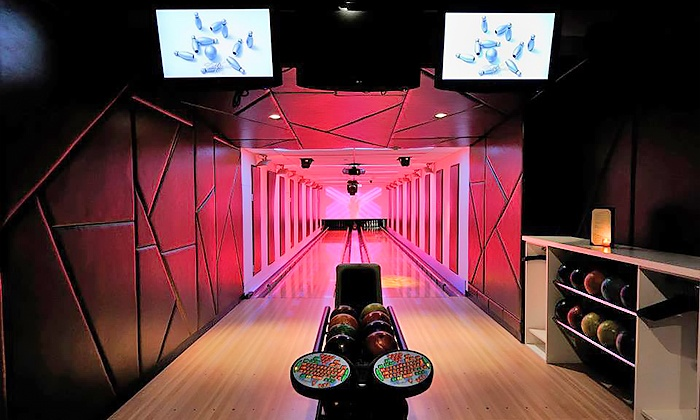 Frames Bowling Lounge NYC - Midtown West: High-End Bowling with Shoe Rentals for Up to 5, 7, or 14 at Frames Bowling Lounge NYC (Up to 63% Off)