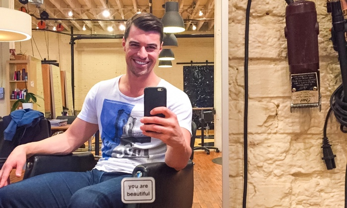 Tsubo Salon Brett Ponder - West Town: Women's or Men's Haircut Package, or Haircut and Partial Highlights at Tsubo Salon Brett Ponder (Up to 31% Off)