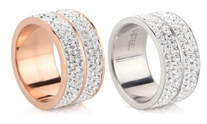 (Exclusive)  Bague cristaux Swarovski®