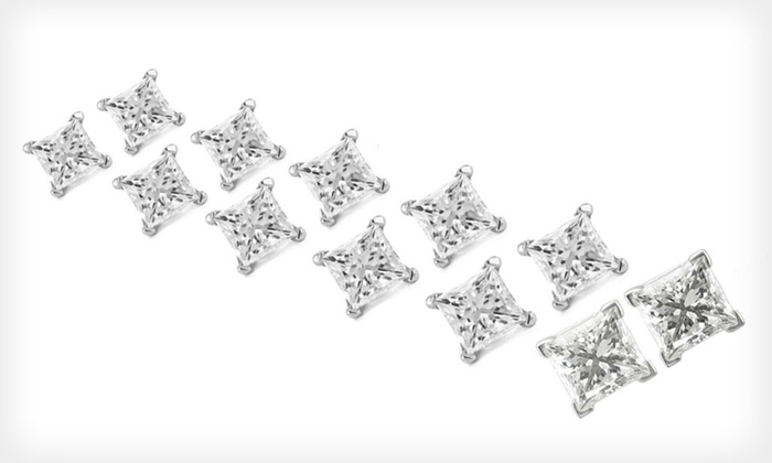 Conflict-Free Diamond Earrings: Princess-Cut, Conflict-Free Diamond Stud Earrings (Up to 58% Off). Eight Sizes Available. Free Shipping and Free Returns.