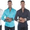 Isaac B. Men's 100% Cotton Button-Down Shirt