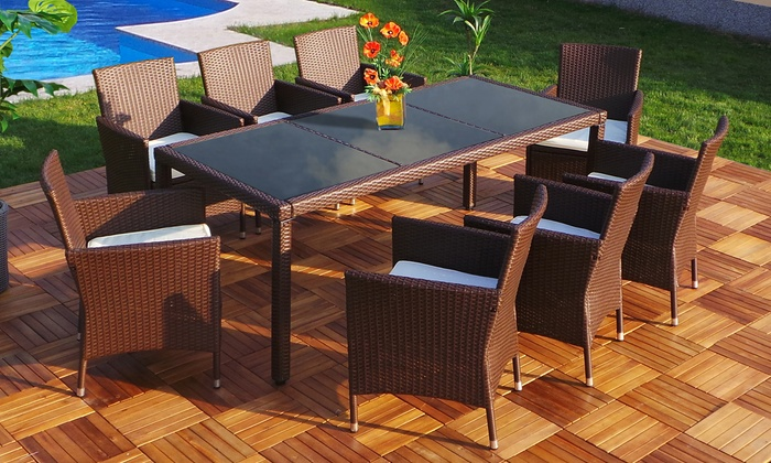 polyrattan gartenm bel set groupon goods. Black Bedroom Furniture Sets. Home Design Ideas