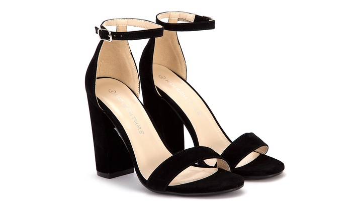 Sandales Noires À Talon 3dKkAb