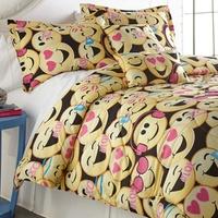 Groupon.com deals on Emoji Printed Comforter Twin Sets